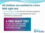 all children are entitled to a free nhs sight test