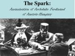 the spark assassination of archduke ferdinand of austria hungary