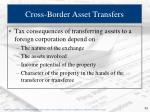 cross border asset transfers