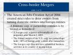 cross border mergers slide 1 of 2