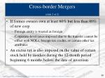 cross border mergers slide 2 of 2