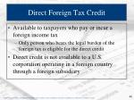 direct foreign tax credit