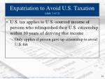 expatriation to avoid u s taxation slide 1 of 2
