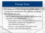 foreign taxes