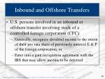 inbound and offshore transfers