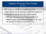 indirect foreign tax credit slide 1 of 5