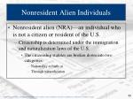 nonresident alien individuals