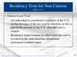 residency tests for non citizens slide 1 of 3