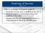 sourcing of income slide 6 of 9