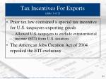 tax incentives for exports slide 1 of 2
