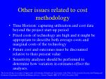 other issues related to cost methodology