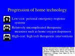 progression of home technology