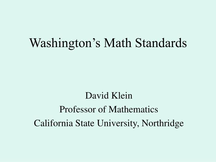washington s math standards n.