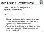 java locks synchronized