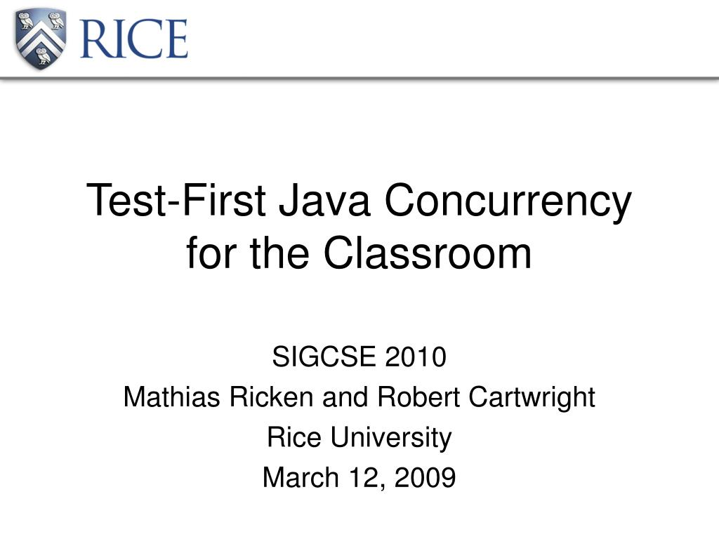 test first java concurrency for the classroom l.