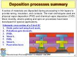 deposition processes summary