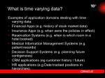 what is time varying data15