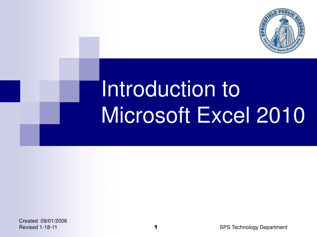 introduction to microsoft excel 2010 l.