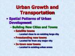 urban growth and transportation12