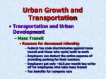 urban growth and transportation28