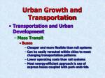 urban growth and transportation32