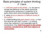 basic princip les of syst e m thinking f capra