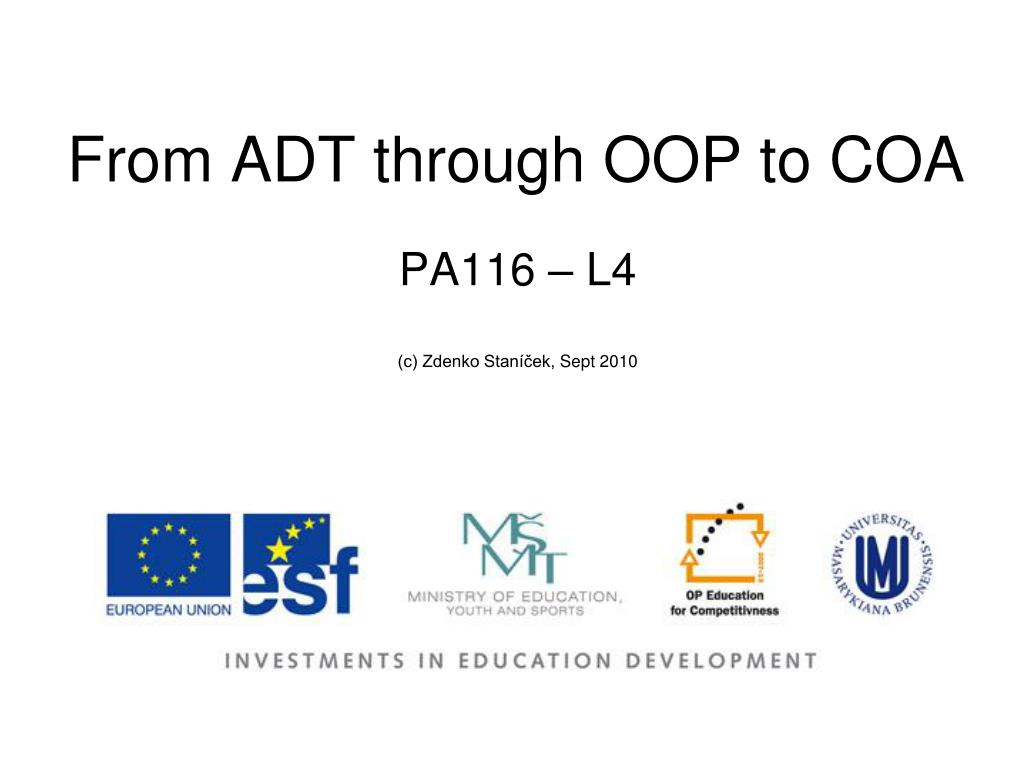 from adt through oop to coa l.