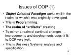 issues of oop 1