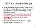 oop a nd cluster model 2
