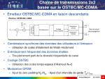cha ne de transmissions 2x2 bas e sur le ostbc mc cdma