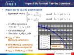impact du format fixe de donn es24