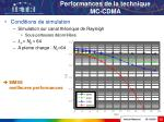 performances de la technique mc cdma