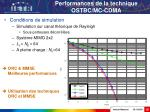 performances de la technique ostbc mc cdma