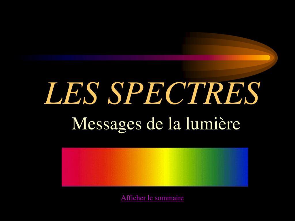 les spectres l.