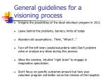 general guidelines for a visioning process