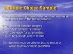 multiple choice sample15