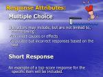 response attributes