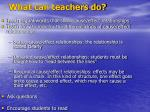 what can teachers do