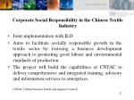 corporate social responsibility in the chinese textile industry