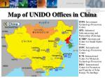 map of unido offices in china