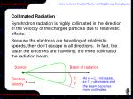 collimated radiation