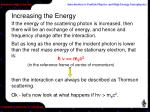 increasing the energy