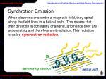synchrotron emission