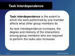 task interdependence