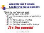 accelerating finance leadership development