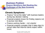 business problem finance workforce not meeting the challenges of the new economy