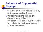 evidence of exponential change