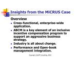 insights from the micrus case