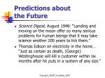predictions about the future