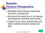 results finance perspective